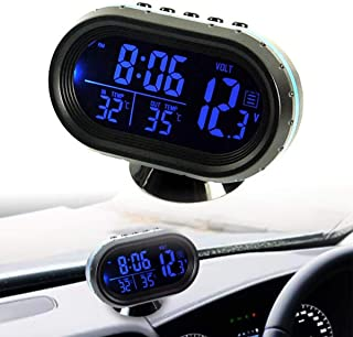 Backlight Clock for Bicycle Motorcycle Auto Moto Truck MACHSWON Car Clip-on Digital LCD Thermometer
