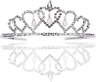 LUCKYYY Accessori da Sposa, cerchietti per Capelli con Corona di Perle, Acconciature.