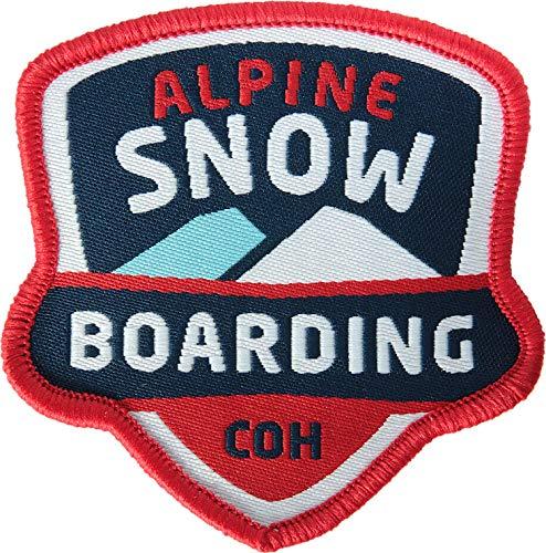 2 x Abzeichen gewebt 60 x 60 mm / Alpine...