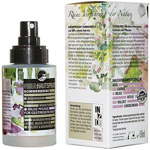 Hydrolat SOMMERBRISE • Milde Pflege für gestresste Haut • 50 ml • aus 100% reinem Hydrolat