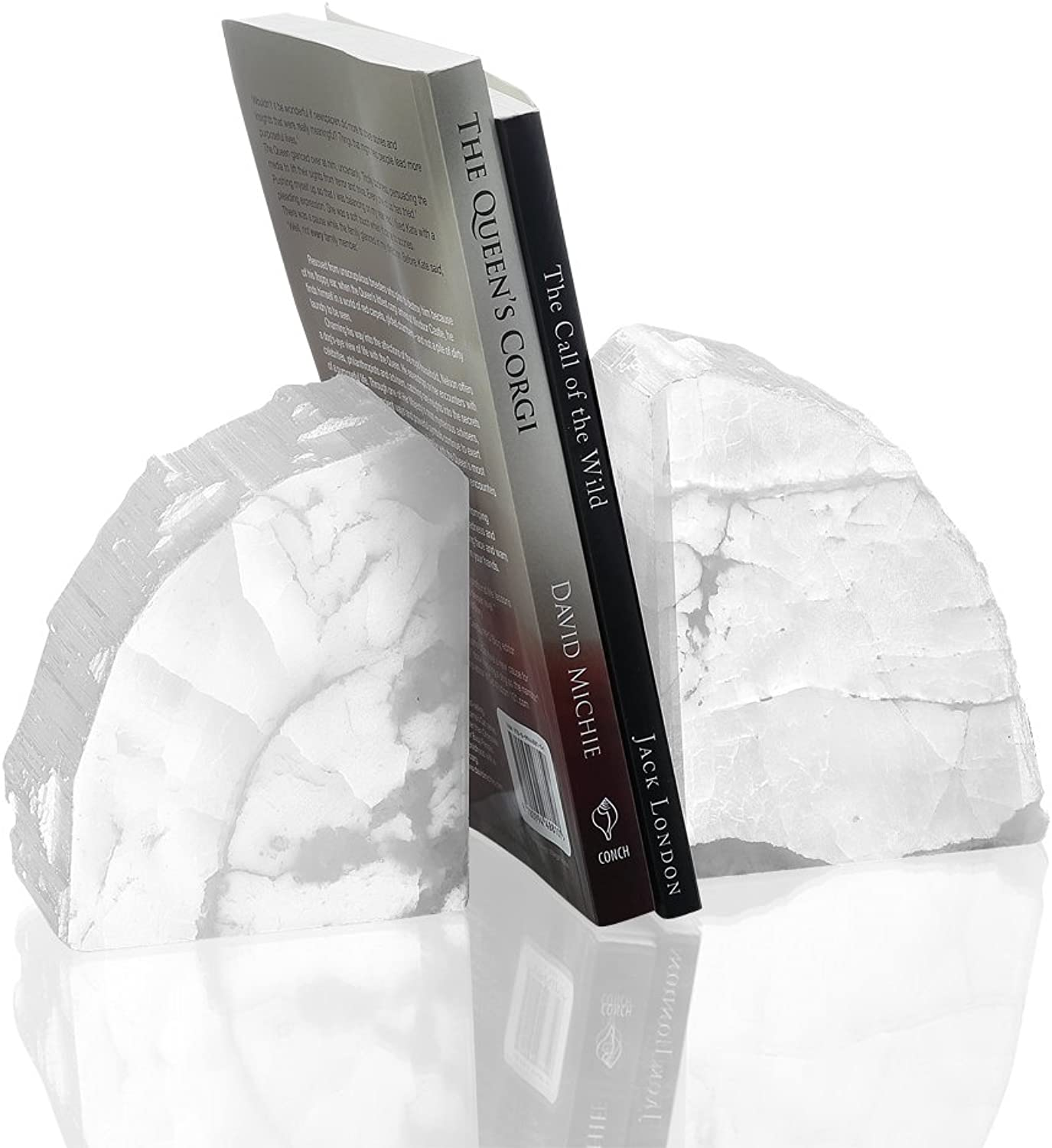 SPI Home White Agate Bookends