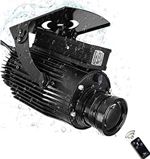 HXZB 60W Grand Angle LED GOBO Rotating Logo Projecteur Lumière, Image Libre Personnalisation Étanche IP65 Extérieur Lampe ...