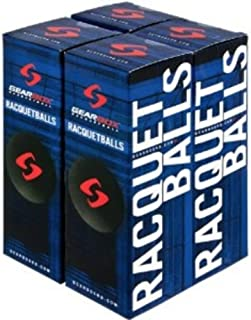 GearBox Racquetballs - Black 4 Boxes of 3 Balls