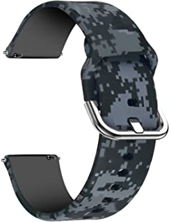 Lwsengme Watch Bands-Width 20mm,22mm-Quick Release & Choose Color-Soft Silicone Replacement Watch Straps