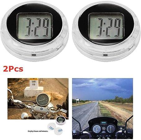 1,1 * 0,4 leuchtende Digitaluhr mit Hintergrundbeleuchtung Kleber f/ür Auto Motorrad Boot Bike Home Viitech Mini Motorraduhr Wasserdicht aufklebbar D * H