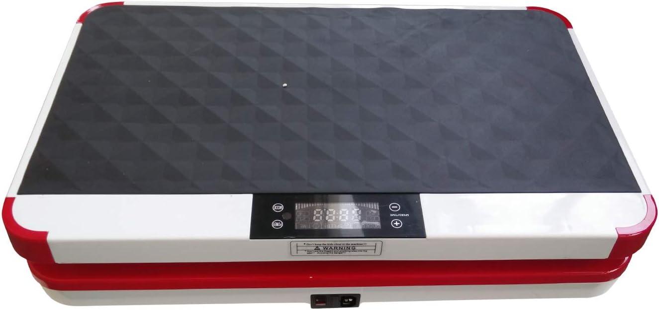Garant/ía 3 a/ños VibroSlim Plataforma vibratoria Ultra Pro Pantalla LED Oscilante 180 Niveles de Intensidad//Velocidad Dorado 4 programas predefinidos