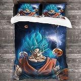 4 ropa de cama juego de sábanas Sábanas papel pintado bola dragón super transpirable tela adecuado para niños y niñas habitaciones W85 xL85