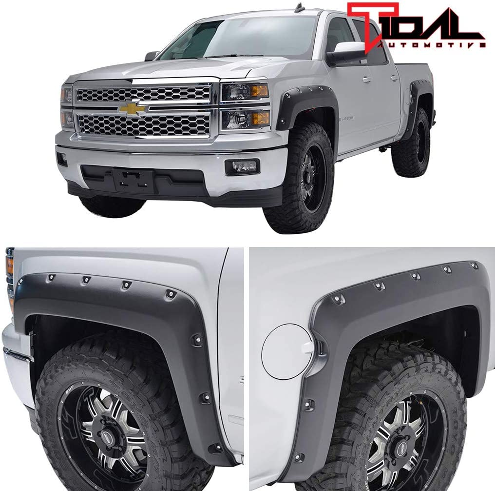 Tidal Fender Flares for 14-18 1500 Style Max 86% OFF Silverado Brand new Only Pocket