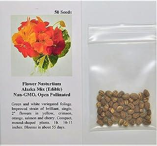 50 Nasturtium Trailing Mix Seeds Non-GMO Free Shipping