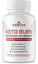 Keto Burn Diet Pills - Premium Natural Weight Loss & Energy Booster Supplement with Raspberry Ketones, Caffeine, Garcinia Cambogia - Advanced Thermogenic Fat Burner for Ketosis - 60 Capsules