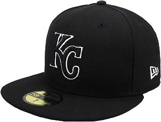 New Era 59Fifty Hat MLB Kansas City Royals Black/White Fitted Headwear Cap