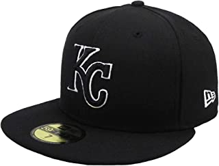 New Era 59Fifty Hat MLB Kansas City Royals Black/White Fitted Headwear Cap