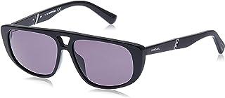 نظارات شمسية للجنسين من ديزل DL030601A54 - لون اسود لامع/دخاني - بلاستيك