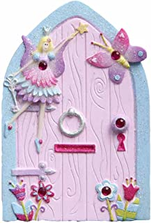 Lucy Locket Magical Fairy Door for Kids (Glittery Hand Painted Skirting Board / Wall / Door Ornament)
