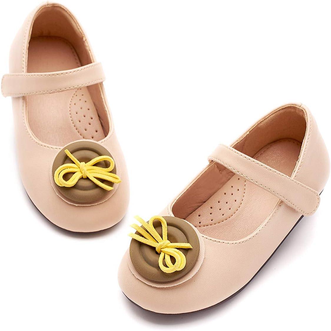 AIBAB Children's Shoes Ballet Flats Single Shoes Girl Matt Color Leather Shoes Princess Shoes