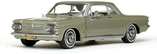 Chevrolet Corvair Coupe, metallic-hellGrün, 1963, Modellauto, Fertigmodell, Sun Star 1 18