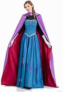 Halloween Anime Women's Dress, Princess Dress Skirt Anna Adult Anime Women's Clothing Novelty Dresses Women's Clothing Women's Casual Dresses,M