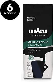 Lavazza Gran Selezione Ground Coffee Blend, Dark Roast, 12-Ounce Bags (Pack of 6)