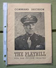 Command Decision. The Playbill for the Fulton Theatre.