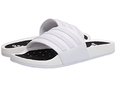 adidas Adilette Boost (Footwear White/Footwear White/Footwear White) Athletic Shoes