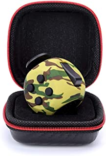 FIDGET DICE Relieves Stress and Anxiety Cube Fidget Toy with Protective Case, Camo Green