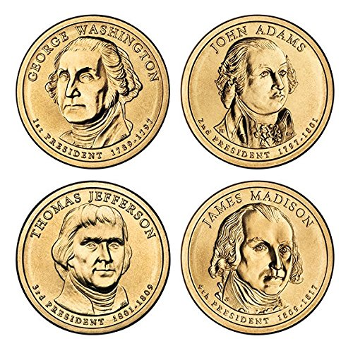 2007 Various Mint Marks Presidential Dollars Brilliant Uncirculated