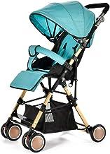 YXCKG Cochecitos Ligeros para bebés con Dosel Ajustable de Gran tamaño Silla de Paseo Plegable compacta para el Modo de reclinación multiposición Silla de Paseo para recién Nacidos y niños pequeños