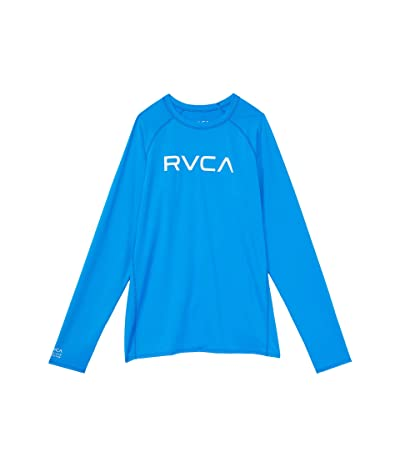 RVCA Kids Long Sleeve RVCA Rashguard (Little Kids/Big Kids) (Blue Cruz) Boy