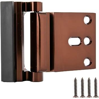 AmazonBasics Cerradura de refuerzo para puerta, bronce frotado al aceite