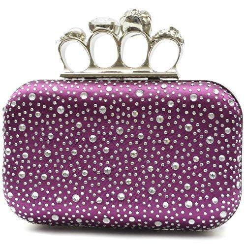 LYDC London Strass Schlagring Clutch Damen Ring Tasche (Violette)