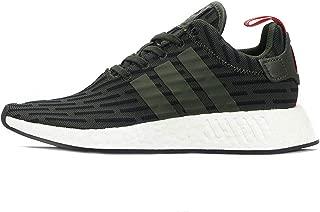 Adidas NMD_r2 - Zapatillas de Malla para Hombre Dark Green/Black/White 43 1/3 EU