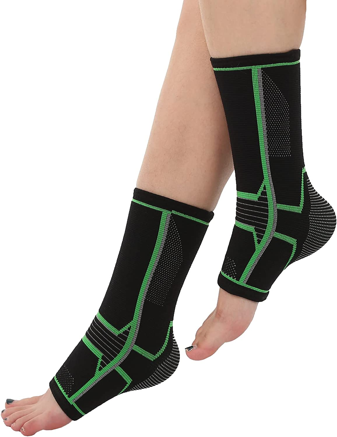 Ankle Daily bargain sale Challenge the lowest price Brace Compression Support Sprained Sleeve Pair for