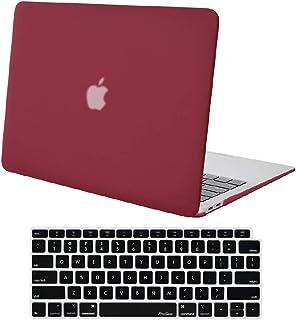 Skyera Funda Dura Compatible con 2019 2018 MacBook Air 13 Pulgadas A1932 con Pantalla Retina & Touch ID, Ultra Delgado Carcasa Rígida Protector de Plástico Cubierta (Rojo Vino)