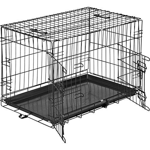 TecTake 800515 Hundekäfig Transportbox | 2 große Türen mit Riegeln | Zusammenklappbar - Verschiedene Größen (76 x 47 x 51 cm | Nr. 402294)