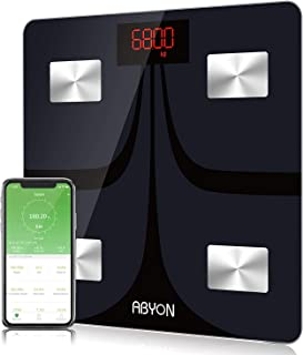 Upgraded 2019- Bluetooth Smart Weight Scales Digital Weight and Body Fat Monitors - in-Depth 11 Key Body Composition Analyzer with iOS & Android APP - Perfect for Body Management or Fitness Journey