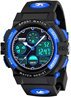 Sponsored Ad - Kids Digital Sport Watch, Boys Girls Waterproof Sports Outdoor Watches Children Casual Electronic Analog Qu...