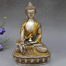 PPCP Sitting Lotus Sakyamuni Like Miniature Sitting Zen Buddha Statue Indoor Home Decoration Outdoor Garden Decoration Sta...