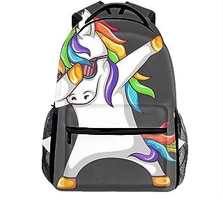 Backpacks Female Knapsack Daypack Lightweight College Bags School Bookbag Casual Fashion Swag Unicorn