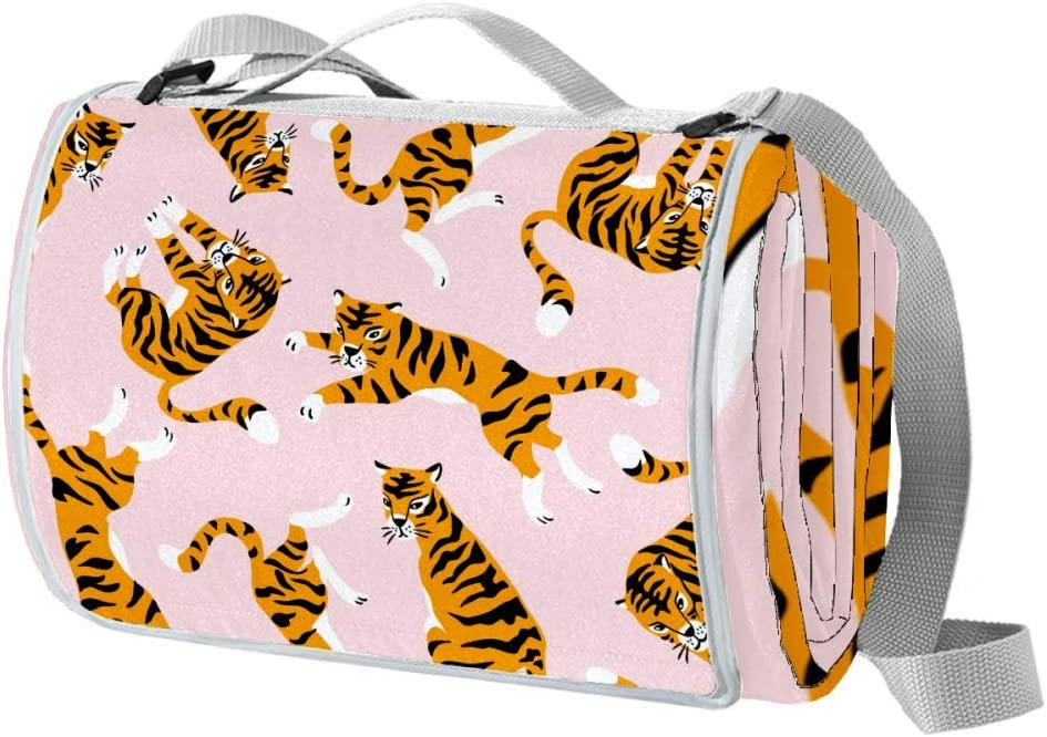 XJJUSC Cute Tigers Outdoor 2021 model Picnic Large New life Proof Blanket an Sand