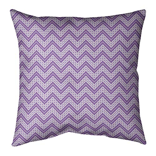 Affordable ArtVerse Rhonda Cheval Classic Hand Drawn Chevron Pattern Pillow (w/Removable Insert) - C...