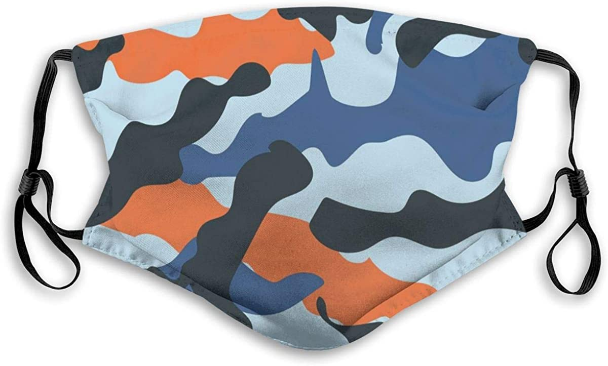 Pattern Design Camouflage Dust Face Mask Adjustable Mouth Mask Balaclava Bandanas With Filter Paper For Kids Teens Men Women S