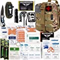 EVERLIT 250 Pieces Survival First Aid Kit IFAK Molle System Compatible Outdoor Gear Emergency Kits Trauma Bag for Camping Boat Hunting Hiking Home Car Earthquake and Adventures (Black) by EVERLIT