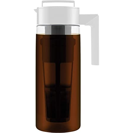 Takeya Patented Deluxe Cold Brew Coffee Maker, Two Quart, White