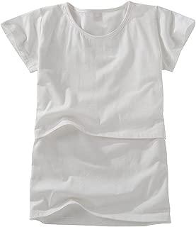 Nursing Tops Breastfeeding T-Shirts Maternity Short Sleeve Organic Cotton