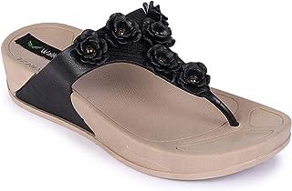 Walkfree Women's Casualwear T-Strap Wedges Heel