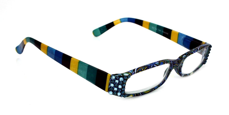Elsa Paisley Narrow Bling Women Nippon regular agency Milwaukee Mall Reading with Adorned Glasses Ge