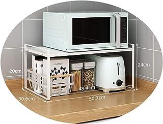 FXPCYGZ Meuble pour Micro-Ondes en métal à Deux étages Grille de Four à Micro-Ondes cuiseur à Riz Four Grille de Four à Mi...