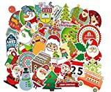 Jasion 100-Pcs Vinyl Stickers Waterproof Lovely Merry Christmas Santa Reindeer Gift Graffiti Decals for Water Bottles Cars Motorcycle Skateboard Portable Luggages Ipad Laptops
