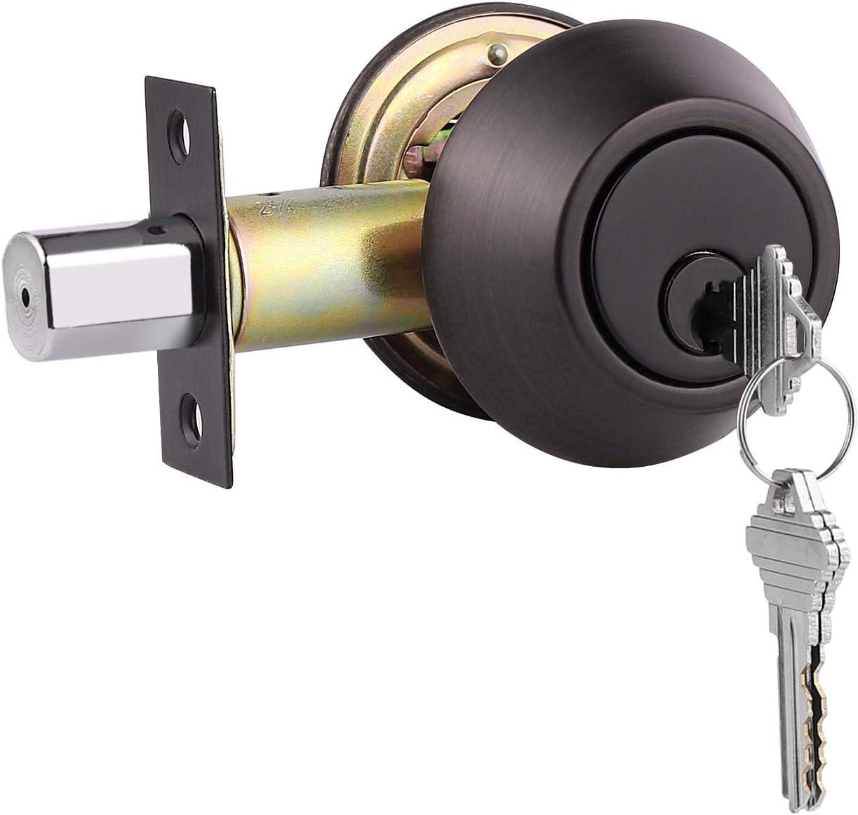 Gobrico Double Cylinder Deadbolt Keyed on Both Home Door 2021 new L Regular store Sides