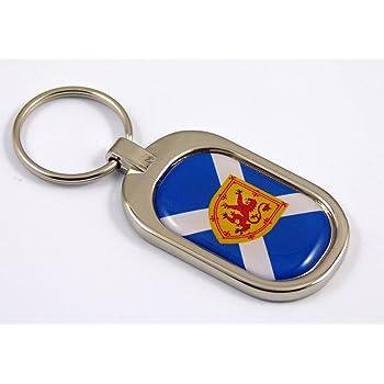 Cuba Flag Key Chain Metal Chrome Plated Keychain Key fob keyfob Cuban Car Chrome Decals